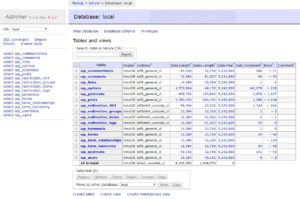 データベース画面